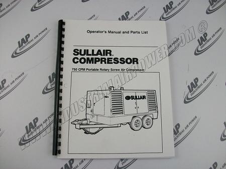 Sullair 252092 Manual 750 Dtq Jd 1988