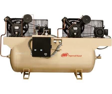 2-2545E10-V Two Stage Duplex Air CompressoR - 10 HP -200V/3-Phase